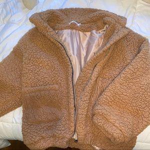 Sherpa/Teddy Zipper Jacket